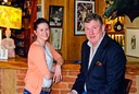 Blue Boar Manageress Krystel Nemet with Owner Paul Dailey